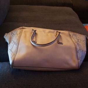 Aldo Grey Snakeskin Bag